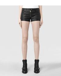 AllSaints Belle Leather Shorts