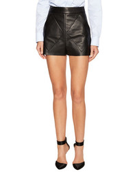 Balenciaga High Waisted Leather Short