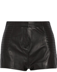 Balmain Pierre High Rise Leather Shorts