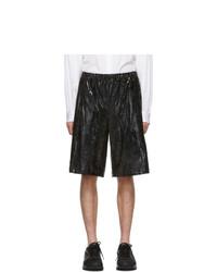 Comme Des Garcons Homme Plus Black Foil Jersey Shorts