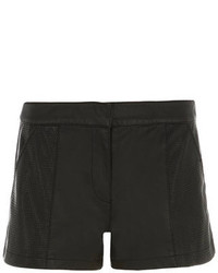 Dorothy Perkins Black Leather Look Shorts