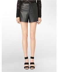 Calvin Klein Faux Leather Shorts