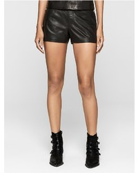 Calvin Klein Rebel Edge Leather Shorts