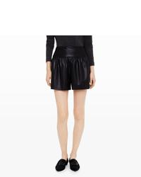 Club Monaco Larue Faux Leather Shorts