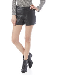 Cupcakes Cashmere Greystone Leather Shorts