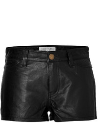 Current/Elliott Current Elliott By Charlotte Gainsbourg Leather Shorts