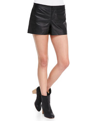 Neiman Marcus Cusp By Thekla Leather Shorts Black