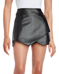 Design Lab Lord Taylor Faux Leather Skort