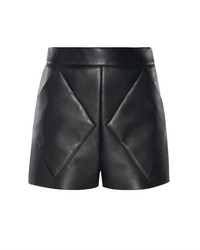 Balenciaga Diamond Seam Bonded Leather Shorts