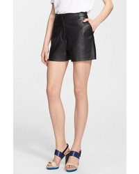 Elizabeth and James Alistaire Leather Shorts Black 10
