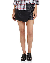Sam Edelman Faux Leather Asymmetrical Skort