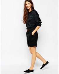 Only Faux Leather Casual Short