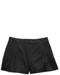 Sam Edelman Faux Leather Pleated Shorts