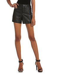 Calvin Klein Faux Leather Shorts