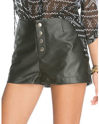 BB Dakota Faux Leather Shorts