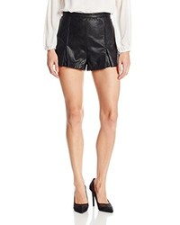 MinkPink Heavens Devil Faux Leather Shorts
