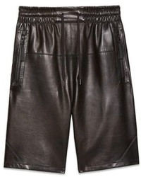 Helmut Lang Light Weight Bonded Leather Shorts