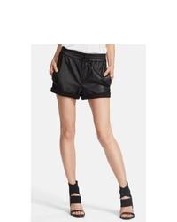 Helmut Lang Washed Leather Knit Shorts