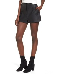 Leith High Waist Faux Leather Shorts