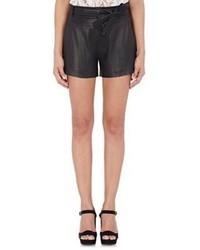 IRO Lambskin Shorts Black Size 42fr