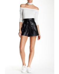 Jealous Tomato High Waist Faux Leather Short