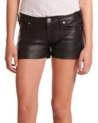 True Religion Joey Low Rise Leather Shorts