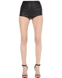 La Perla High Waisted Leather Mini Shorts