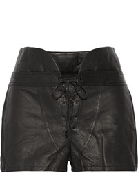 Alexander Wang Lace Up Leather Shorts