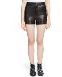 Saint Laurent Lambskin Leather Shorts
