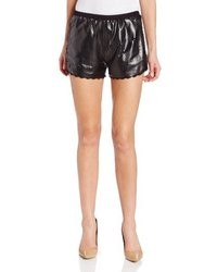Anna Sui Laser Cut Faux Leather Short