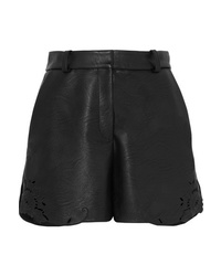 Stella McCartney Laser Cut Faux Leather Shorts