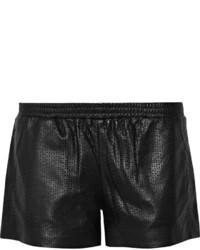 Vince Laser Cut Leather Shorts