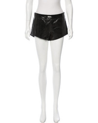 Mason Leather Accented Tailored Shorts