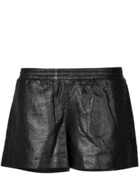Vince Leather Mesh Shorts