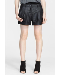 Elizabeth and James Leather Moto Shorts