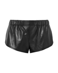 Saint Laurent Leather Shorts