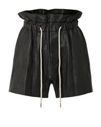 Bassike Leather Shorts