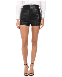 Love Moschino Leather Zip Front Shorts