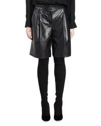 Givenchy Long Leather Shorts Black