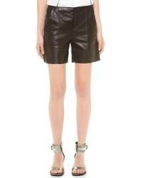 Mm6 leather shorts medium 31102