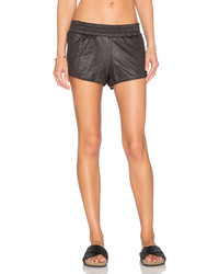 Monrow Perforated Leather Short