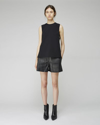 Alexander Wang Pleated Leather Shorts