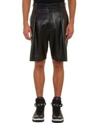 Givenchy Pleated Leather Walking Shorts