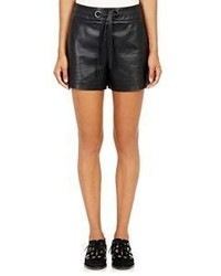 Proenza Schouler Leather Shorts Black