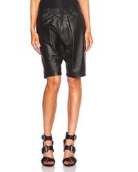 R 13 R13 Leather Harem Shorts