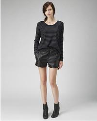 Rag and Bone Rag Bone Em Leather Shorts