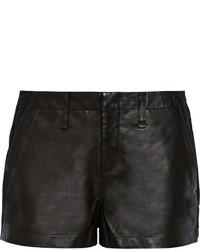 Rag and Bone Rag Bone Jean Hyde Portobello Leather Paneled Cotton Shorts
