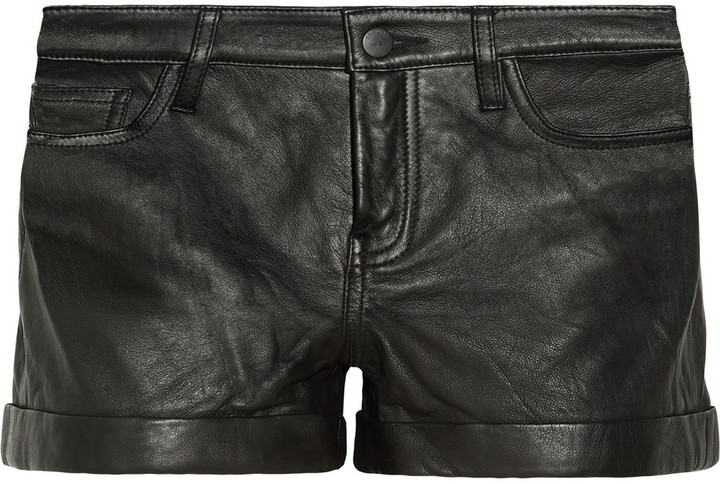 Theory Rizda Washed Leather Shorts | Where to buy & how to wear