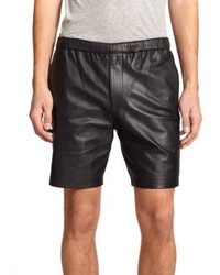 Theory Grego Leather Shorts
