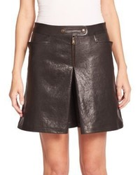 Tomas Maier Leather Overlay Shorts